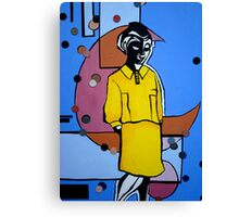 Woman in the Yellow Dress Canvas Print