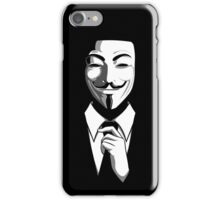 Anonymous (group) - Collar and Tie iPhone Case/Skin