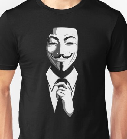 Anonymous (group) - Collar and Tie Unisex T-Shirt