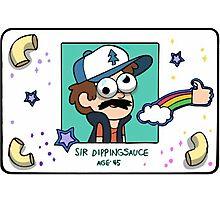 "Dipper Pines' ""Sir Dippingsauce"" Fake ID Card Replica Photographic Print"