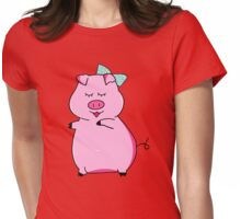 Piggy Pink Womens Fitted T-Shirt