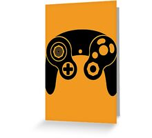 Nintendo GameCube Black Greeting Card