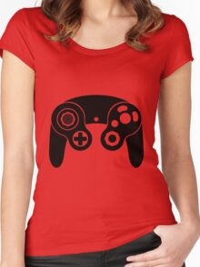 Nintendo GameCube Black Women's Fitted Scoop T-Shirt