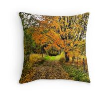 Leaf Covered Trail Throw Pillow