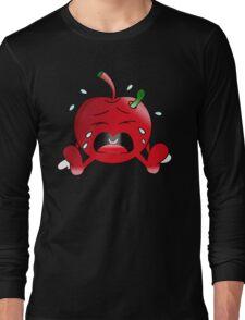 Crying Apple Long Sleeve T-Shirt