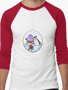 Hippo & Penguin Men's Baseball ¾ T-Shirt