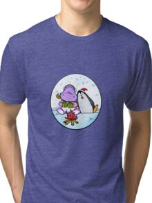 Hippo & Penguin Tri-blend T-Shirt