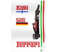 Ferrari 2015: Raikkonen, Vettel Poster