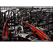 Road to rack and ruin Photographic Print