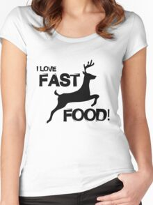I Love Fast Food Women's Fitted Scoop T-Shirt