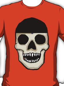 Baseball Fan Skull  T-Shirt