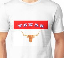Abstract Longhorn & Texas Flag Colors Unisex T-Shirt