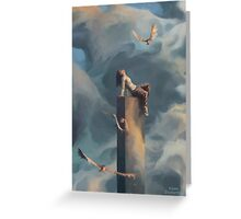 Among Clouds Greeting Card