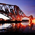 Rail Bridge Dawn by David Queenan