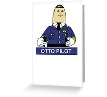 Otto the Inflatable Pilot Greeting Card