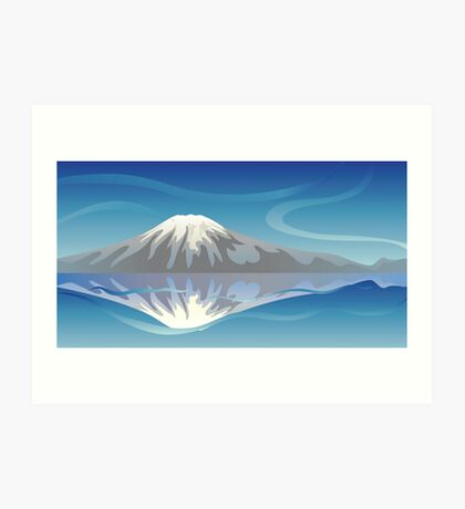 Snow Mountain Art Print