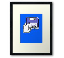 Amiga Workbench - Insert Disk Framed Print