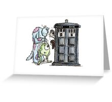 Monsters vs Doctor who Greeting Card