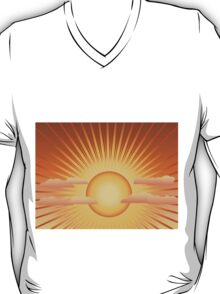 Sun with rays and clouds T-Shirt