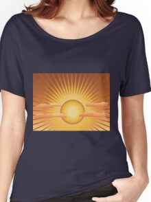 Sun with rays and clouds Women's Relaxed Fit T-Shirt
