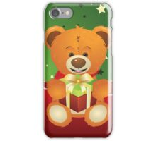 Teddy Bear with Gift Box iPhone Case/Skin
