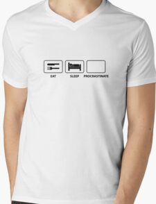 Eat Sleep Procrastinate Mens V-Neck T-Shirt