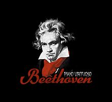Beethoven piano virtuoso (black) by TICS