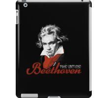 Beethoven piano virtuoso (black) iPad Case/Skin