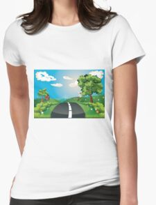 Way Through Nature Womens Fitted T-Shirt