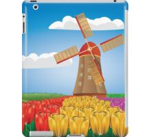 Windmill and tulips iPad Case/Skin