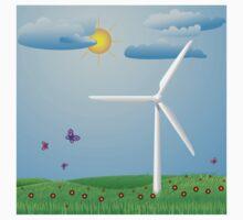 Wind turbine Kids Tee