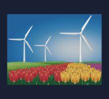 Wind turbine 2 Kids Tee