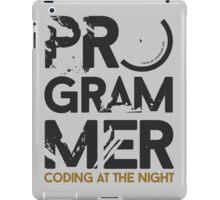 programmer - coding at the night iPad Case/Skin