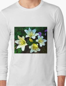 White Lily in the garden Long Sleeve T-Shirt
