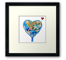 I Love You, Get Well Soon, You Mean The World To Me, Heart, Earth, Street Art Framed Print