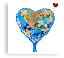 I Love You, Get Well Soon, You Mean The World To Me, Heart, Earth, Street Art Canvas Print