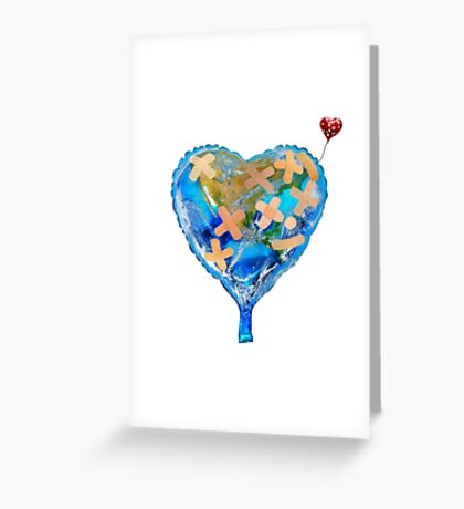 I Love You, Get Well Soon, You Mean The World To Me, Heart, Earth, Street Art Greeting Card