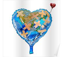 I Love You, Get Well Soon, You Mean The World To Me, Heart, Earth, Street Art Poster