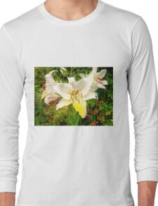 White Lily in the garden 9 Long Sleeve T-Shirt