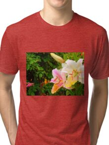 White Lily in the garden 10 Tri-blend T-Shirt