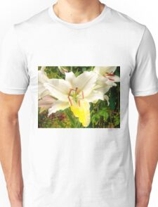 White Lily in the garden 12 Unisex T-Shirt
