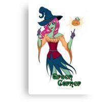 Green Corner Witch Canvas Print