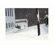 Snow Storm New England 2015 Art Print