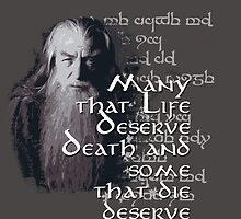 Gandalf Quote by Joschkit