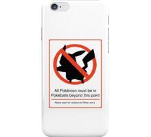 Pokemon Warning iPhone Case/Skin