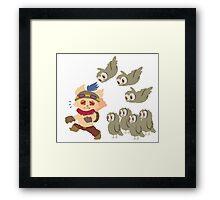 God Damn Owls Teemo Art Framed Print