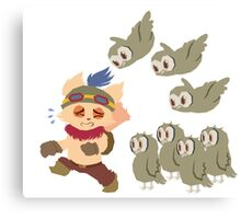 God Damn Owls Teemo Art Canvas Print