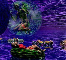 TUBING ON PLANET INDIGO by Ann Morgan