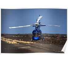 Helicopter Takeoff Poster