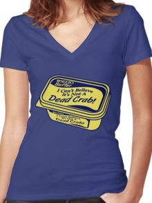 Whizzo Butter Women's Fitted V-Neck T-Shirt